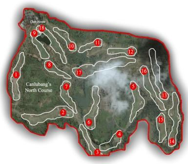 Canlubang Golf Course - North Map