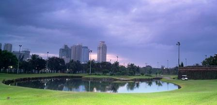 Club Intramuros Golf Course with Manila in the Background