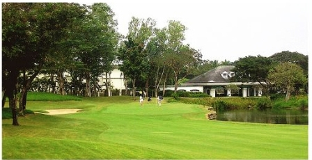 Manila Southwoods Golf Club Hole 9 Legends Clubhouse