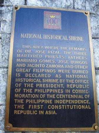 Paco Park Rizal Shrine