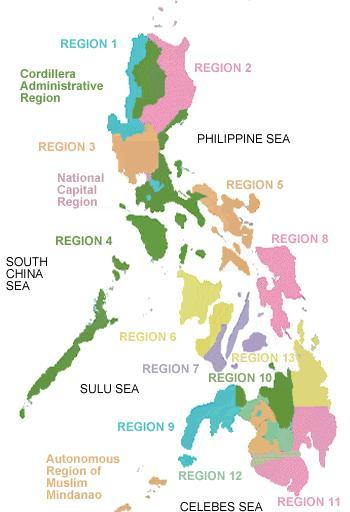 All the Philippine Regions and Provinces in one spot