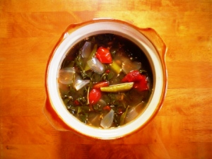 Filipino Food - Saluyot Leave Soup