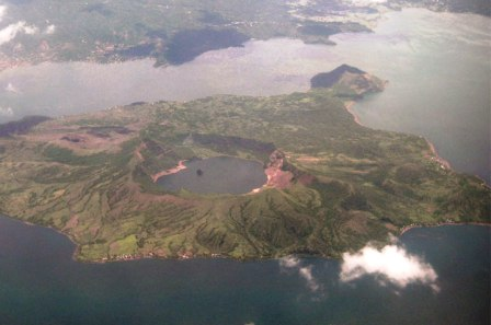 Taal Volcano Aerial View