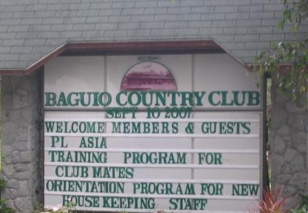 Baguio Country Club Billboard