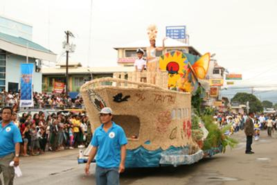 Shown in photo is the float of the municipality of Taytay, second prize winner in the Baragatan Float Parade competition in 2009.