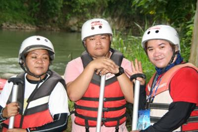 Before Riding our Boat /White Water Rafting in Cagayan de Oro