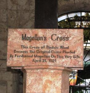 Sign below Magellans Cross
